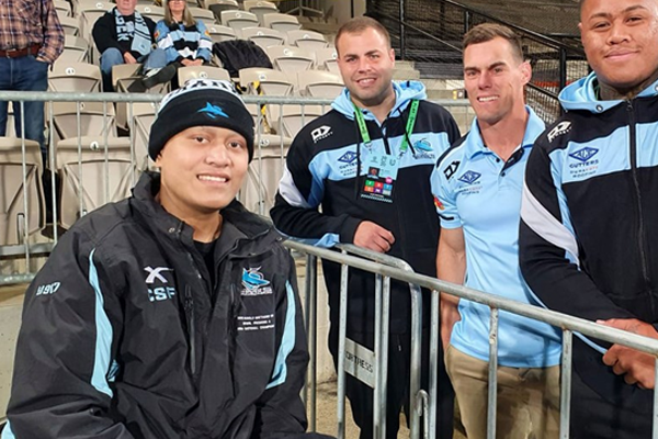 Article image for 'Fire up and play for Fine': Sharks young gun beats brain cancer