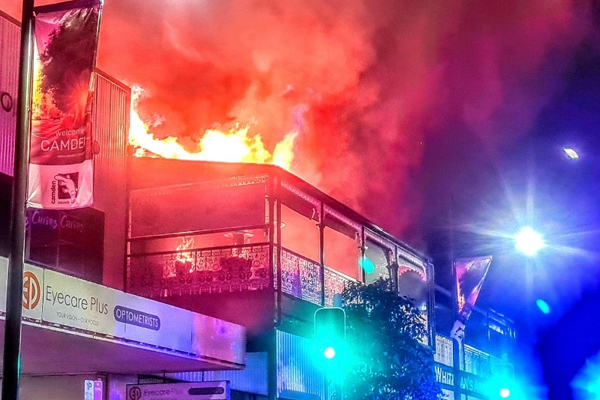 Article image for Owner devastated after restaurant in 100yo Sydney building ravaged by fire
