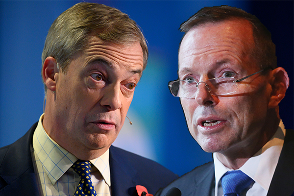 Nigel Farage defends Tony Abbott's UK move amid scathing criticism