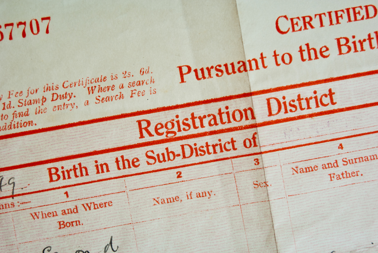 Article image for How a typo sparked a six-decade struggle with Births, Deaths and Marriages