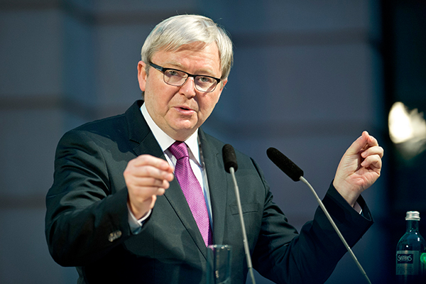 Kevin Rudd urges government to push on with planned super increase