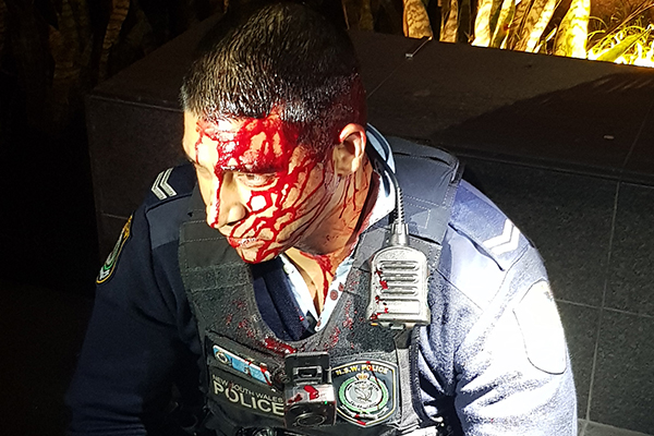 Man charged with attempted murder after Sydney officers attacked