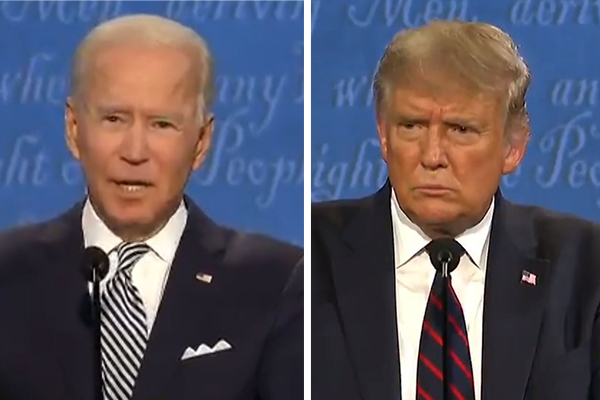 Donald Trump clashes with Joe Biden in fiery presidential debate