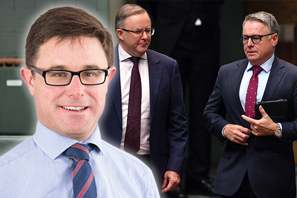 Article image for Minister mocks Labor's 'near death experience' as MP avoids his leader
