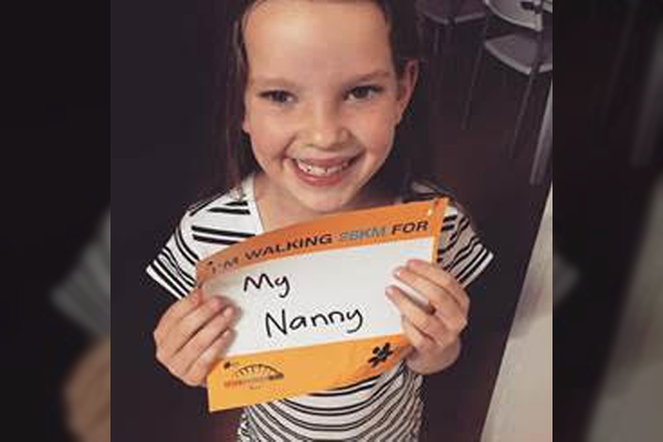 Article image for No easy feat for young Mackenzie walking on in Grandma's honour