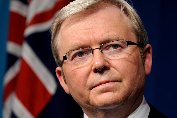 Kevin Rudd says he never met Jeffrey Epstein amid donation revelation