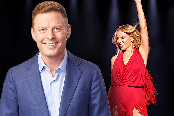 Article image for 'You're my hero!': Kylie Minogue reacts to Ben Fordham's candid confession