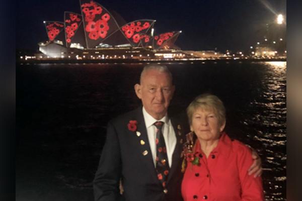 Jim Wilson secures the legacy of veteran behind Opera House poppies