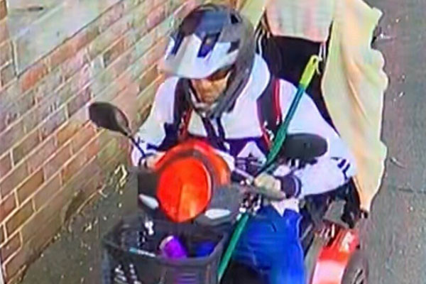 Article image for CCTV released of slow getaway driver on 82yo's mobility scooter