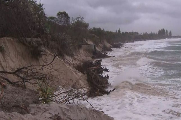 Beaches destroyed as severe weather conditions converge