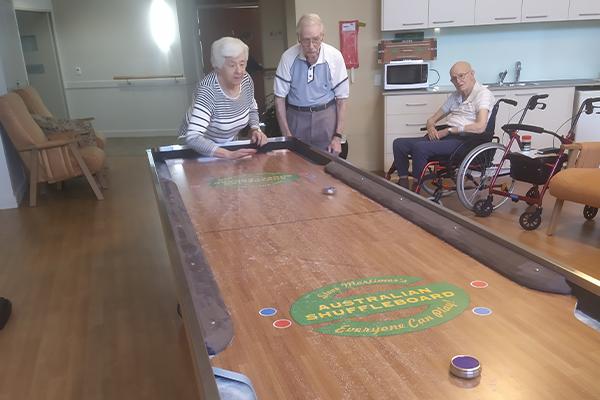 Shuffleboard phenomenon brings joy to disengaged aged care residents