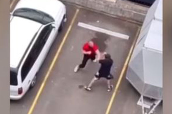 Article image for WATCH | Western Sydney fight club erupts in car park