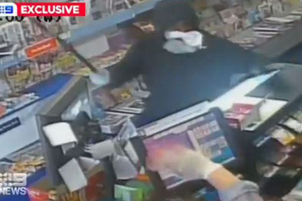 Terrifying footage of violent armed robberies across Sydney