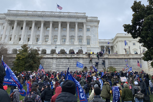 Chaos in Washington DC as Trump supporters storm the Capitol
