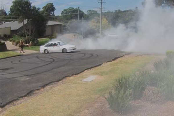 WATCH   Hoon charged after CCTV captures Australia Day burnout