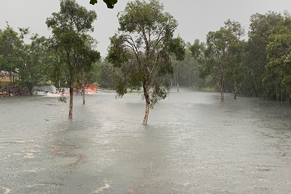 Article image for Heavy rain deluge causes flash flooding and road chaos