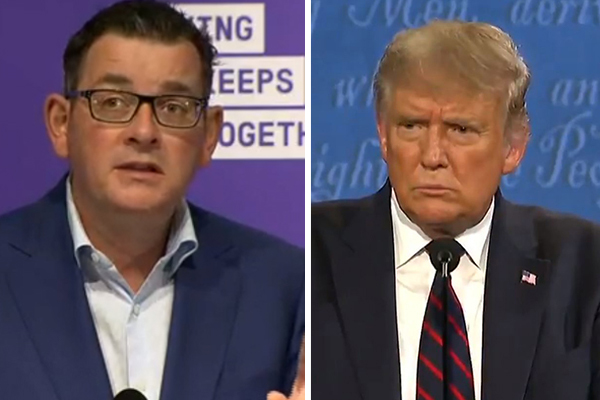 Article image for Dan Andrews equated to Donald Trump over 'almost comical' comments
