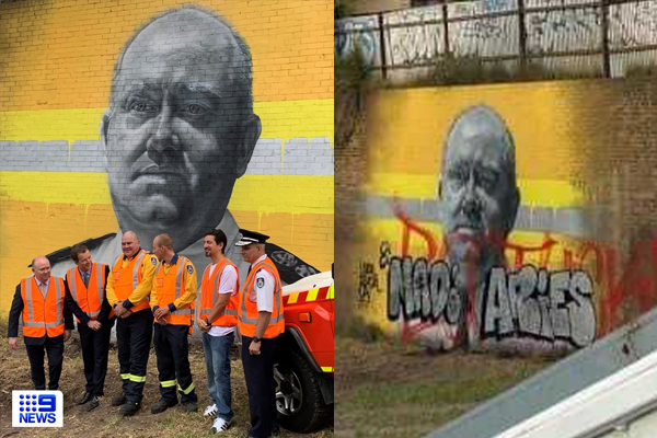 Article image for 'Shane would be embarrassed': Taxpayers pay to protect mural of ex-RFS commissioner