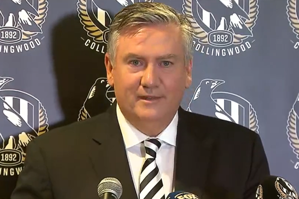 Article image for 'My heart has been true': An emotional Eddie McGuire steps down as Collingwood president