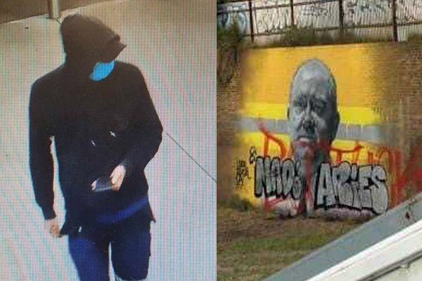 'More than a coincidence': Search for vandal who defaced an anti-graffiti mural