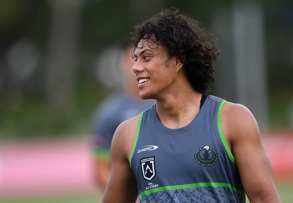 Jarome Luai takes the field with his Maori All Star heroes