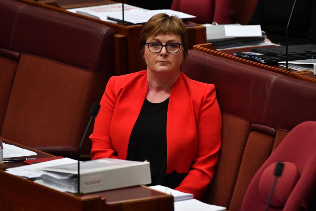 Linda Reynolds admitted to hospital amid parliament rape allegation scandal
