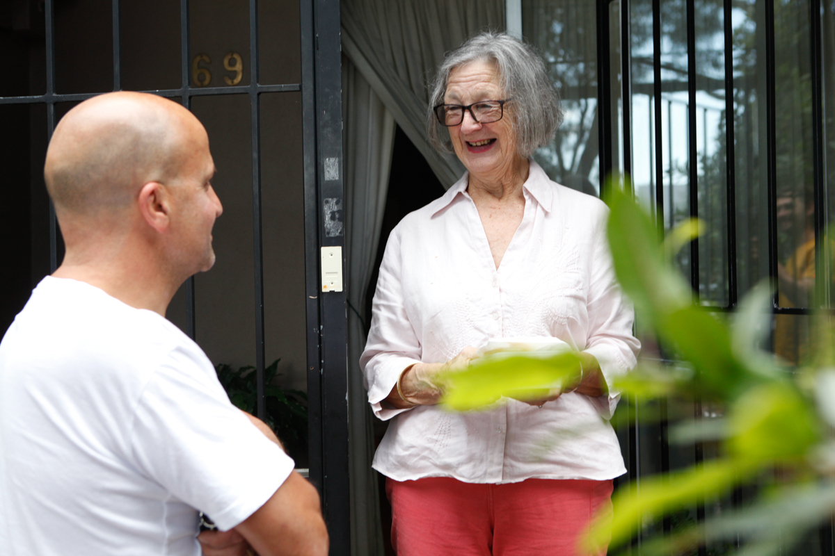 Article image for Meal deliveries bring a positive boost to those 'doing it tough' in Sydney's inner west