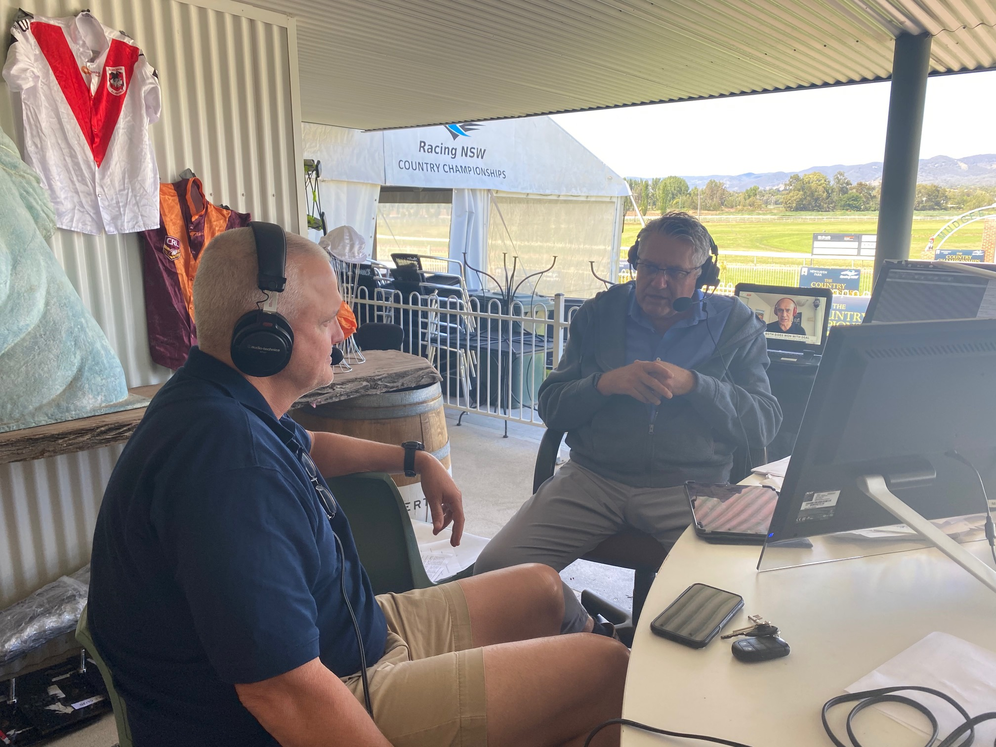 Ray Hadley broadcasts from Mudgee for Country Championships
