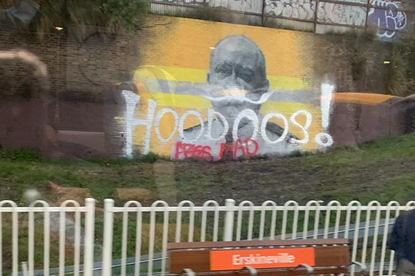 'It's pathetic': Shane Fitzsimmons mural vandalised again