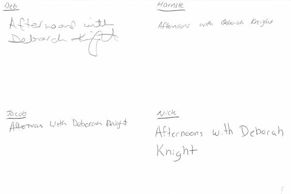 Article image for POLL   Afternoons team expose their terrible handwriting