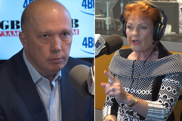 'You've got a special responsibility': Peter Dutton's stern warning to Pauline Hanson