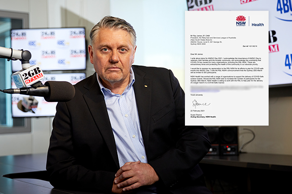 Article image for 'You've lied to me!': Ray Hadley reveals RSL boss' 'disgraceful' ANZAC Day move