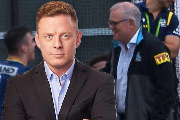 Article image for Ben Fordham slams 'keyboard cowards' attacking PM for going to the footy