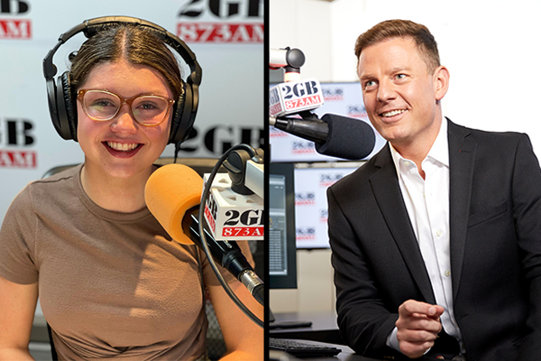 Article image for Ambitious 15yo sets her sights on Ben Fordham's job