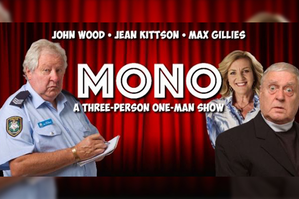 Article image for John Wood's three-person one-man show