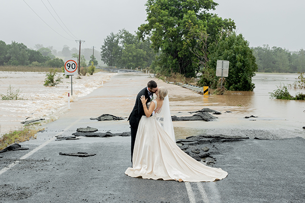 Good Samaritan in a chopper saves the (wedding) day