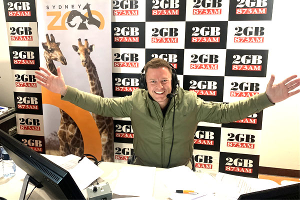 Ben Fordham broadcasts from Sydney Zoo