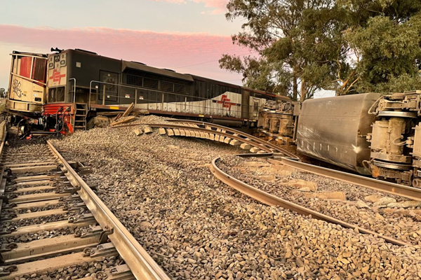 Article image for Images highlight remarkable escape for freight train crew