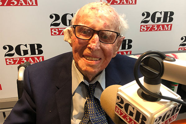 Article image for Ben Fordham's incredible interview with 105-year-old 'living legend'