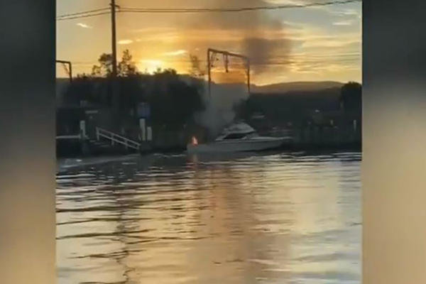 Person fighting for life after boat explodes on Sydney river