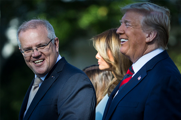 Article image for The extravagant gifts Donald Trump gave Scott Morrison