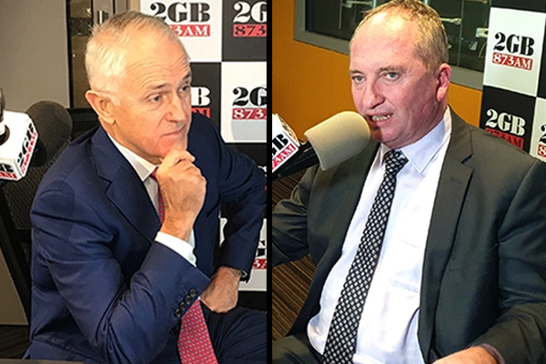 'It's just sooking!': Barnaby Joyce blasts Malcolm Turnbull's 'selective view of history'