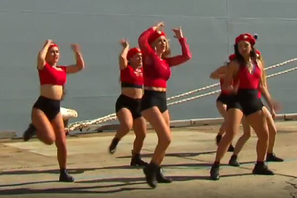 Article image for VIDEO | Twerking dancers perform at opening of naval ship