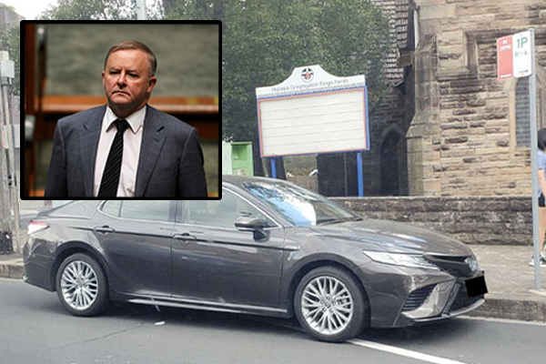 Article image for CAUGHT OUT | Albo sprung parking illegally in Sydney
