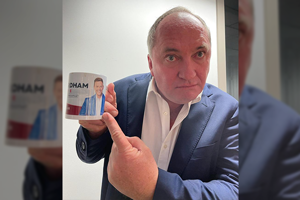 Article image for WATCH   Barnaby Joyce's amusing reaction to Nationals leadership question