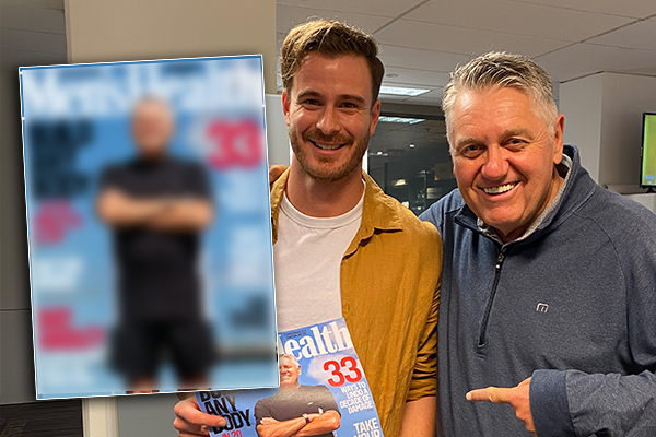 Article image for Ray Hadley's 'titivating' moment as a Men's Health cover man