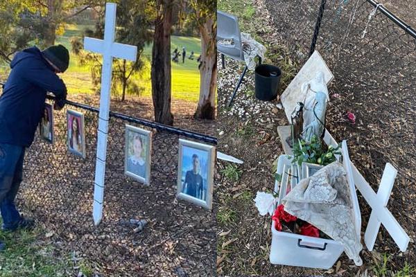 Article image for Mother of Oatlands crash victim 'shattered' after memorial vandalised