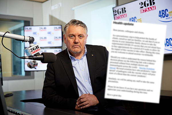 Article image for Ray Hadley slams 'lunatic fringe' speech pathologist for shocking email to clients