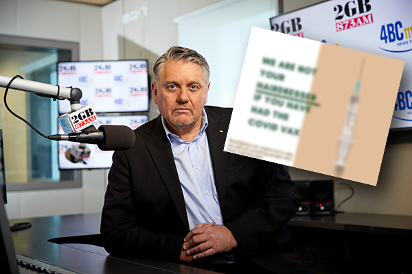Article image for Ray Hadley calls out hairdresser over 'ridiculous' social media rant