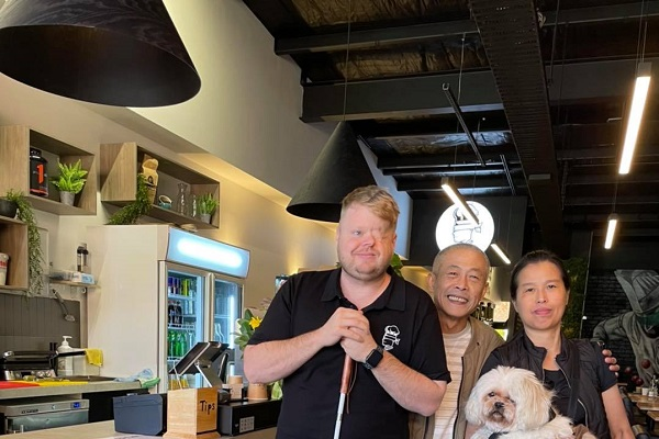 Article image for Local hero: The remarkable man who set up a cafe for the vision impaired